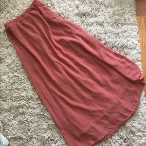 Dusty Rose Maxi Skirt